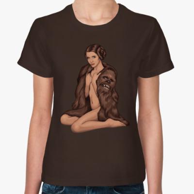 Женская футболка Принцесса Лея и Чубака