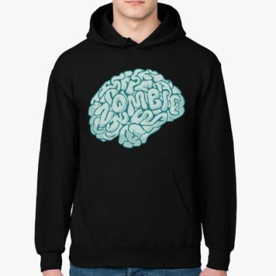 Толстовка худи Мозг. Зомби. Brain. Zombie.