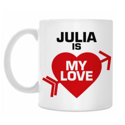 Кружка Юля - моя любовь