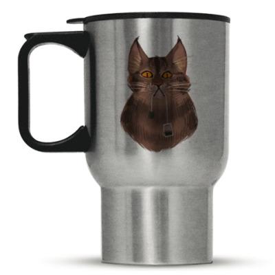 Кружка-термос Чайный кот