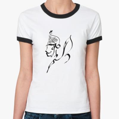 Женская футболка Ringer-T Жизнь коротка, искусство вечно