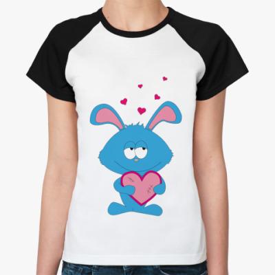 Женская футболка реглан   InLove