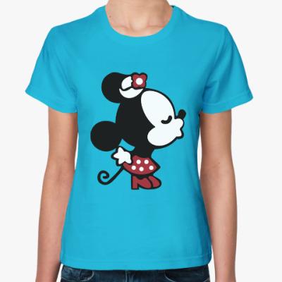 Женская футболка Мышиная любовь