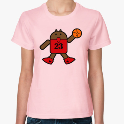 Женская футболка Jordan Android