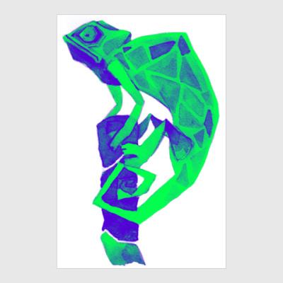 Постер Хамелеон Кислотный