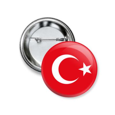 Значок 37мм Турция, Turkey