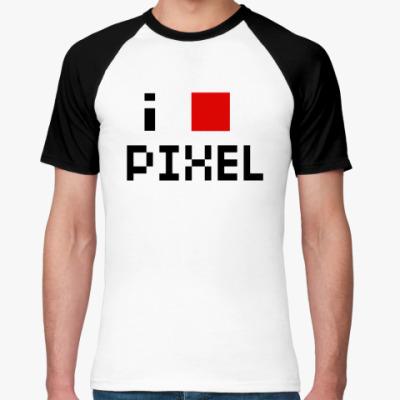 Футболка реглан pixel
