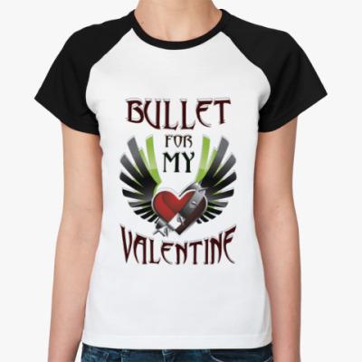 Женская футболка реглан Bullet for my Valentine