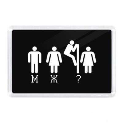 Магнит Туалет М Ж ?