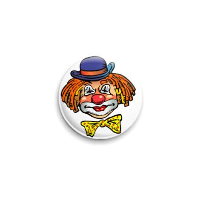 Значок 25мм Клоун