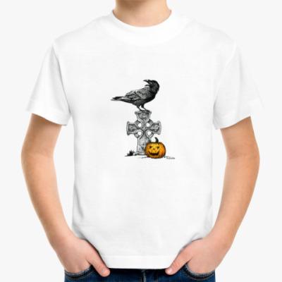 Детская футболка Ворон и Тыква
