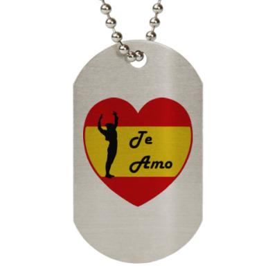 Жетон dog-tag Я люблю тебя по-испански