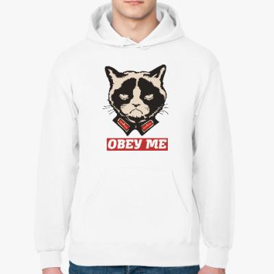 Толстовка худи Obey the kitty.