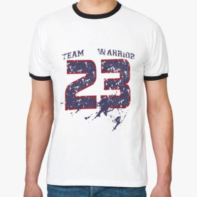 Футболка Ringer-T Team warrior