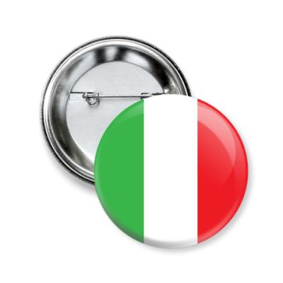 Значок 50мм Италия, Italy