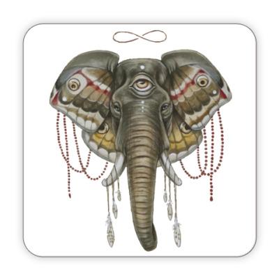 Костер (подставка под кружку) Индийский слон