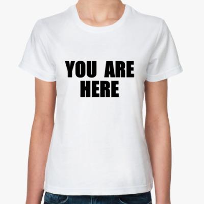 Классическая футболка John Lennon -You Are