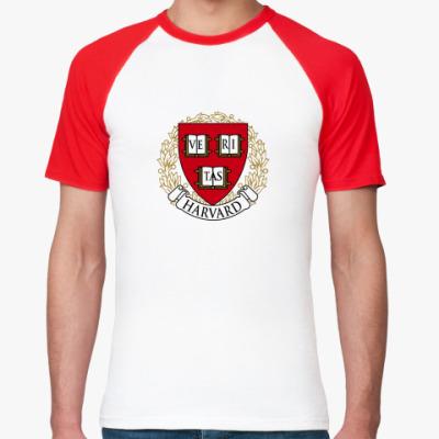 Футболка реглан Университет Гарварда
