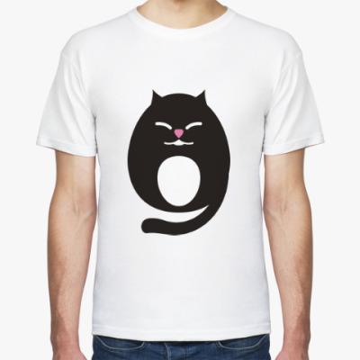 Футболка Прикольный кот. Японский. Аниме. Манга.