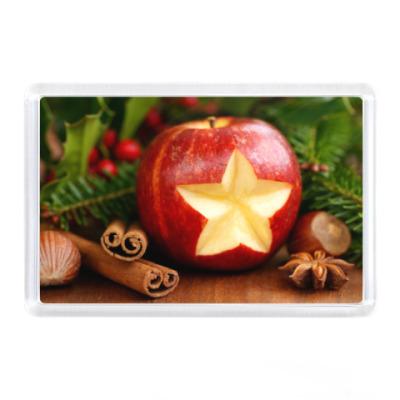 Магнит Звезда в яблочке