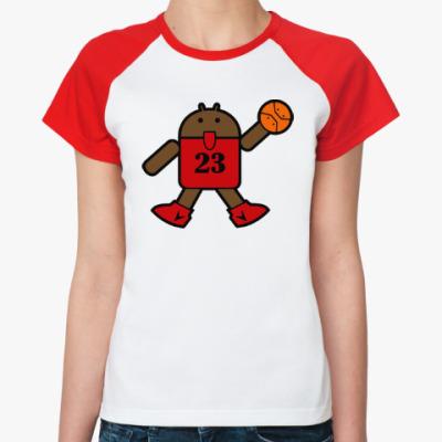 Женская футболка реглан Jordan Android