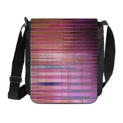 Сумка на плечо (мини-планшет) Космос в полоску