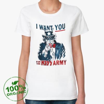Женская футболка из органик-хлопка Kiss