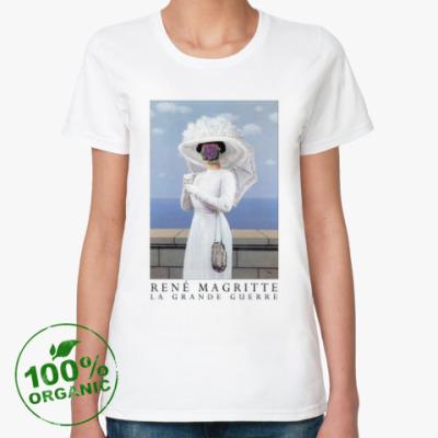 Женская футболка из органик-хлопка Рене Магритт - Великая война