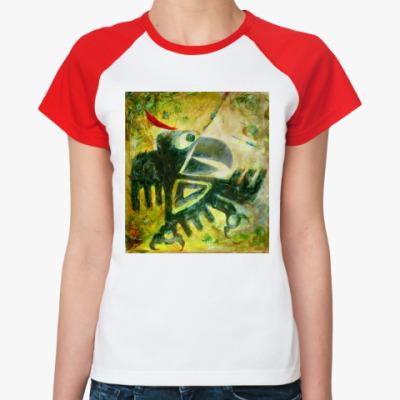 Женская футболка реглан 'Индейская ворона'