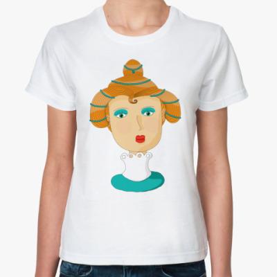 Классическая футболка Загадочная дамочка