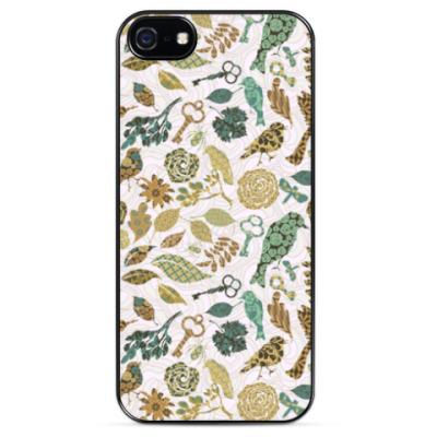 Чехол для iPhone Винтажные птицы