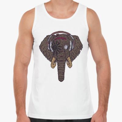 Майка Слон в наушниках