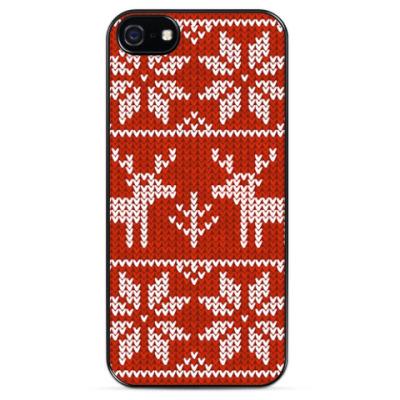 Чехол для iPhone Вязаные олени