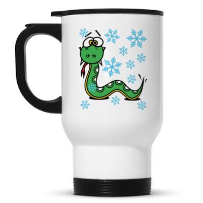 Кружка-термос Новогодняя змея