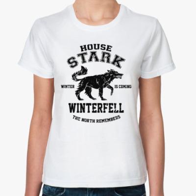Классическая футболка Игра престолов.Винтерфелл