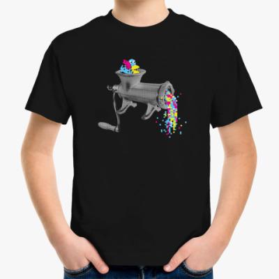 Детская футболка Пиксельная мясорубка