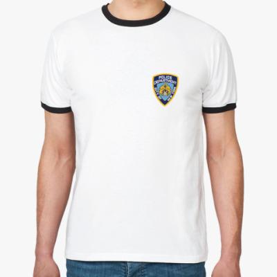 Футболка Ringer-T  NYPD