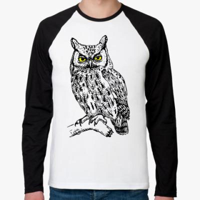 Футболка реглан с длинным рукавом OWL