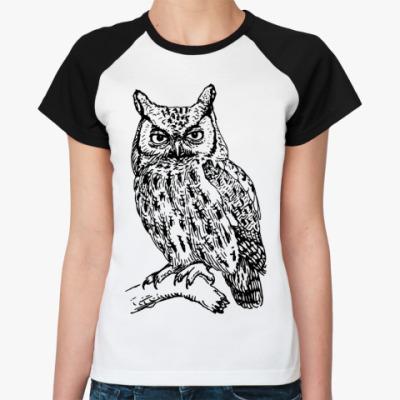Женская футболка реглан OWL