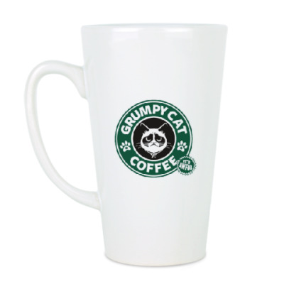 Чашка Латте Grumpy Cat coffee !