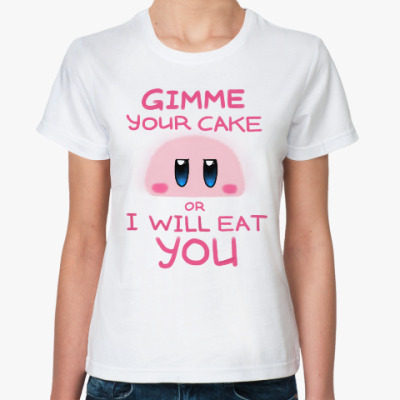 Классическая футболка Kirby: Cake or Life