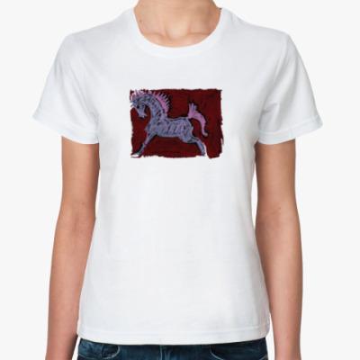 Классическая футболка Розовый конь