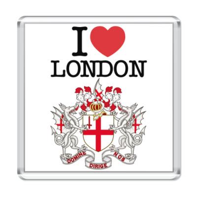 Магнит Я люблю Лондон