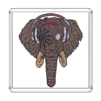 Магнит Слон в наушниках