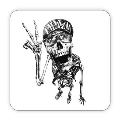 Костер (подставка под кружку) Thrash-скелет