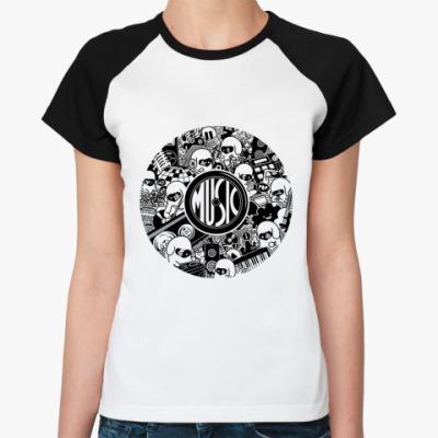 Женская футболка реглан Music   Ж()