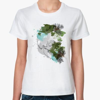 Классическая футболка Январский череп