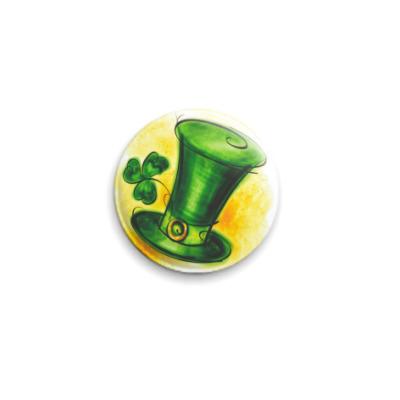 Значок 25мм  'Irish Hat'