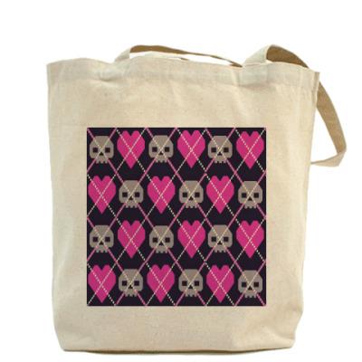 Холщовая сумка Ромбы