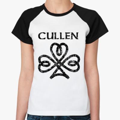 Женская футболка реглан Cullen sign